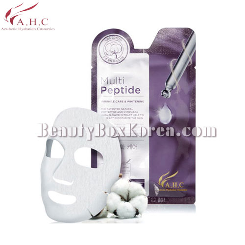 A.H.C Cotton 100 Mask Multi Peptide 25ml,A.H.C,Beauty Box Korea