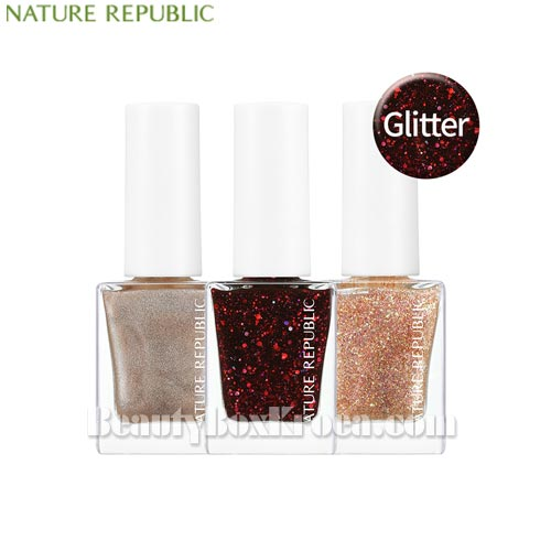 NATURE REPUBLIC Color&Nature Nail Color 8ml [Glitter/Pearl],Beauty Box Korea