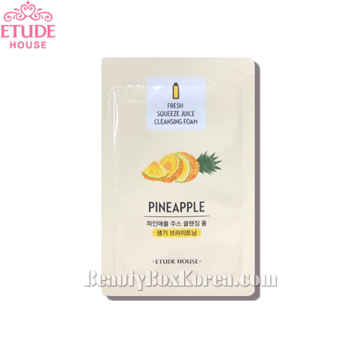 [mini] ETUDE HOUSE Fresh Squeeze Juice Cleansing Foam Pineapple 1ml*10ea,Beauty Box Korea