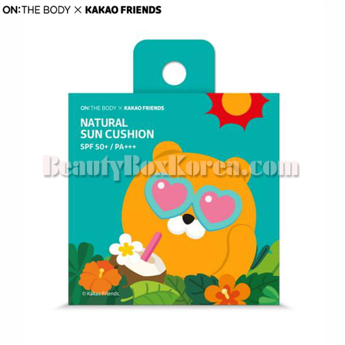 ON THE BODY KAKAO FRIENDS Natural Sun Cushion SPF50+ PA+++ Ryan 15g,ON THE BODY
