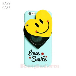 EASYCASE Heart Smile Mirror Phone Case Mint,Beauty Box Korea