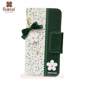 FLABONI Flower Bed Green Wallet Phone Case,FLABONI ,Beauty Box Korea