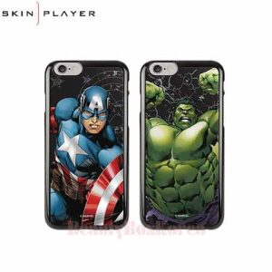 SKIN PLAYER 4Items Marvel Primium Mirror Black Edition Phone Case,Beauty Box Korea