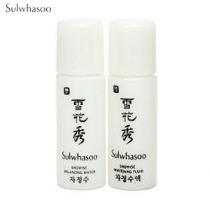 [mini] SULWHASOO Snowise EX Brightening Water 5ml + Whitening Fluid 5 ml Set, SULWHASOO