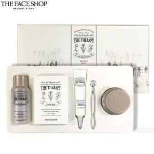 [mini] The face shop The Therapy Special Kit 3items + Green Tea Cotton Pads 5ea, THE FACE SHOP