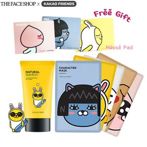 THE FACE SHOP Kakao Friends Limited Value Set #2 + Kakao Friends Mouse Pad,Beauty Box Korea