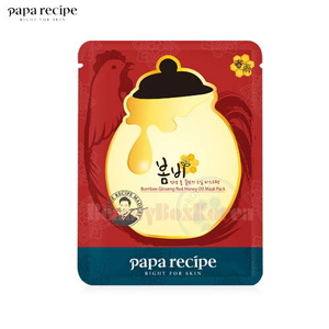 PAPA RECIPE Bombee Ginseng Red Honey Oil Mask Pack 20g,Beauty Box Korea