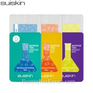 SUISKIN Water 100 Thin Mist 17ml*3 [MOIST & VITAMIN & PROTECT]