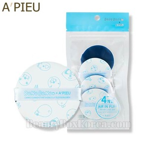 A'PIEU Air In Puff 4pcs -Blue [BonoBono Edition],Beauty Box Korea