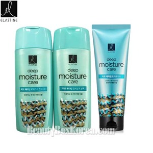ELASTINE Deep Moisture Care Phyto Keratine Shampoo Conditioner Treatment Set 200ml*3ea