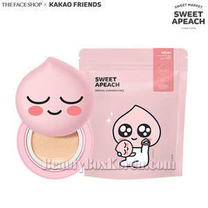THE FACE SHOP Sweet Apeach Cushion Case 1ea [The Face Shop x Kakao Friends -Sweet Apeach],Beauty Box Korea