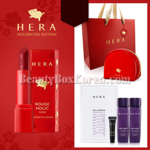 HERA Rouge Holic Shine Special Set 7items[Golden Pig Edition]
