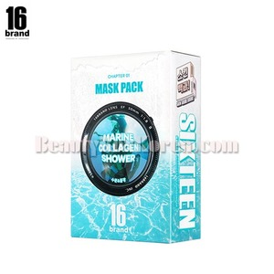 16BRAND Skin Guide Book Marine Collagen Shower 35g*10ea