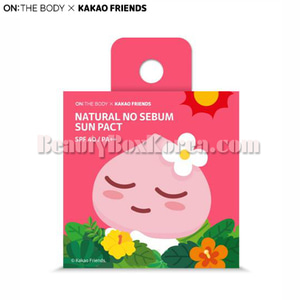 ON THE BODY KAKAO FRIENDS Natural No Sebum Sun Pact Apeach 9g