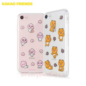 KAKAO FRIENDS 7Kinds Uv Shuffle Clear Jelly Phone Case,Beauty Box Korea