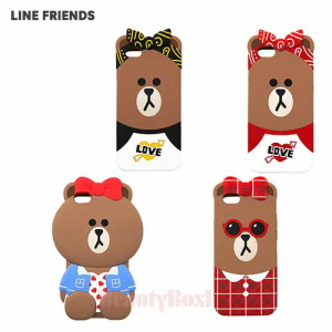 LINE FRIENDS Choco Silicone Bumper Phone Case 1ea,Beauty Box Korea