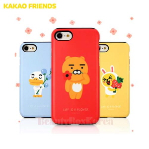 KAKAO FRIENDS Flower Double Bumper Phone Case,Beauty Box Korea