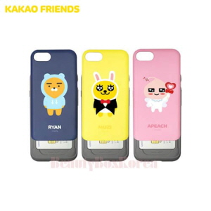 KAKAO FRIENDS Slide Card Bumper Phone Case,Beauty Box Korea