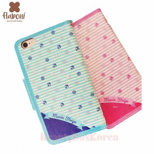 FLABONI 2Kinds Marin Stripe Wallet Phone Case,FLABONI ,Beauty Box Korea