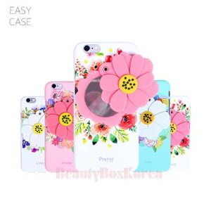 EASYCASE 4Items Flower Mirror Hard Phone Case,Beauty Box Korea