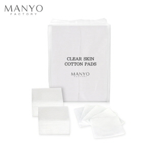 MANYO FACTORY Clear Skin Cotton Pads 100ea (50 x 60mm), MANYO FACTORY