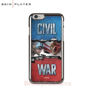 SKIN PLAYER Marvel Civil War Premium Mirror Art Phone Case,Beauty Box Korea