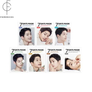 FORENCOS 7 days mask Song Joong Ki (25mlx7pcs), FORENCOS