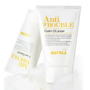 MILKY DRESS Anti Trouble Foam Cleanser 100ml, MILKY DRESS