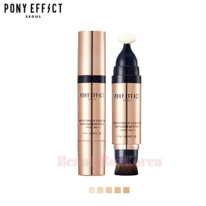 PONY EFFECT Waterproof Cushion Foundation Stick SPF30 PA+++ 5 Colors 15ml