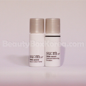 [mini]SU:M37 White Award Micro Clear Toner 6ml & White Award Moisture Balancing Emulsion 6ml Set, Su:m37