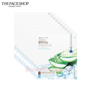 THE FACE SHOP Jeju Aloe Fresh Icy Soothing Face Mask 22g*10ea