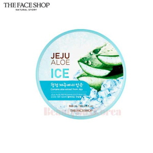 THE FACE SHOP Jeju Aloe Ice Soothing Gel 300ml,THE FACE SHOP,Beauty Box Korea