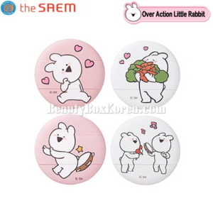 THE SAEM Cushion Puff 2ea [Over Action Little Rabbit Edition]