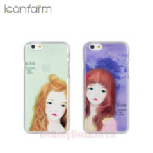 ICONFARM 2Items Narin Illustration Jelly Phone Case,Beauty Box Korea