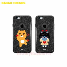 KAKAO FRIENDS 8 Items Black Glitter Jelly Phone Case,Beauty Box Korea
