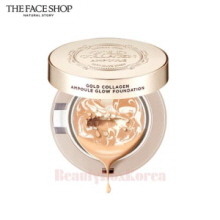 THE FACE SHOP Gold Collagen Ampoule Glow Foundation 10g [WS],Beauty Box Korea