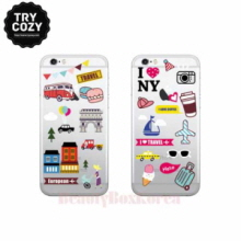 TRYCOZY 4 Items Travel Icon Jelly Phone Case,TRYCOZY,Beauty Box Korea