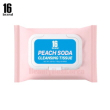 16 BRAND Peach Soda Cleansing Tissue 195g (40wipes)