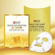 SNP Gold collagen ampoule Mask [10 sheet], SNP