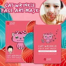 SNP CAT Wrinkle Face art mask 25ml x 10 sheets, SNP