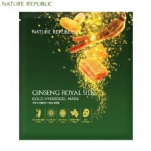 NATURE REPUBLIC Ginseng Royal Silk Gold Hydrogel Mask 32g*5ea, NATURE REPUBLIC