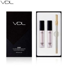 VDL Expert Color Primer For Eyes & Glitter In Pencil Set 6.5g*2 /1.2g,  VDL