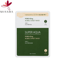 MISSHA Super Aqua Pore Kling Bubble Sheet Mask 1ea, MISSHA