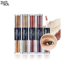 TOUCH IN SOL Metallist Liquid Foil & Glitter Eye Shadow Duo 2.21ml+2g,Beauty Box Korea
