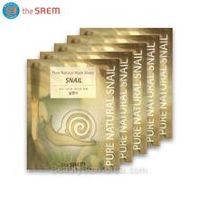THE SAEM Snail Pure Natural Mask Sheet 20ml*5ea ,THE SAEM,Beauty Box Korea
