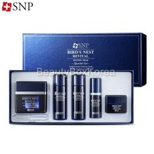 SNP Bird's Nest Revital Recovery Cream Special Set 5items, SNP