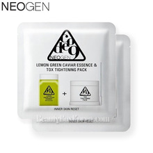 NEOGEN Code9 Lemon Green Caviar Essence & Tox Tightening Pack 9.5ml ,Beauty Box Korea