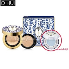 OHUI Ultimate Cover Cushion Matt Finish SPF 50+ PA+++ Special Set 15g+15g [TEO YANG Flower Edition],Beauty Box Korea