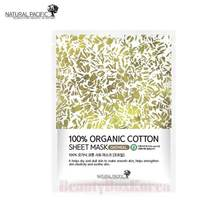 NATURALPACIFIC 100% Organic Cotton Sheet Mask 25g