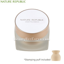 NATURE REPUBLIC Ginseng Royal Silk Cream Foundation SPF37 PA+++ 30ml with Stamping Puff 1ea
